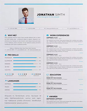 Clean Resume Design In Word  Fancy Resume