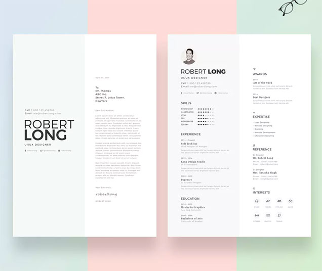creative resume cover pages
