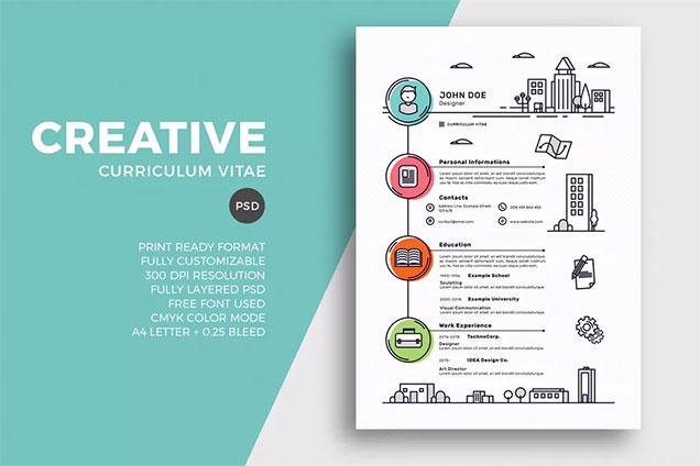 creative resume cv template - Resume Cv Template