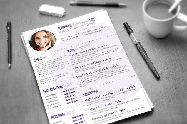 cv template 3 colors