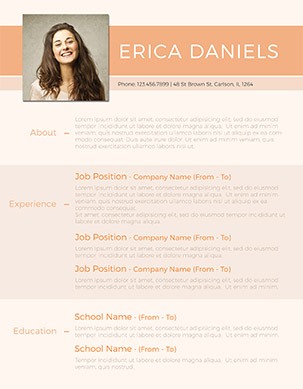 free fancy resume template