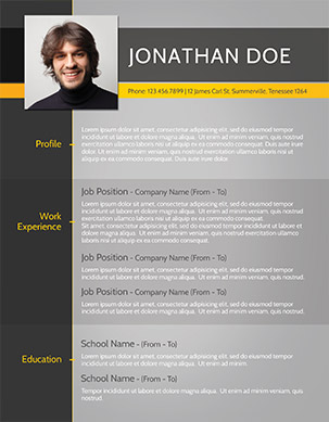 Free Resume Template Psd  Resume Templates Modern