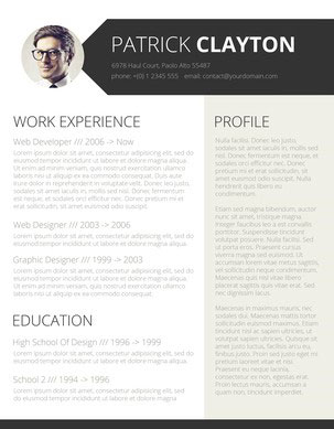Free Smart Word Resume Template  Modern Resume Template Word
