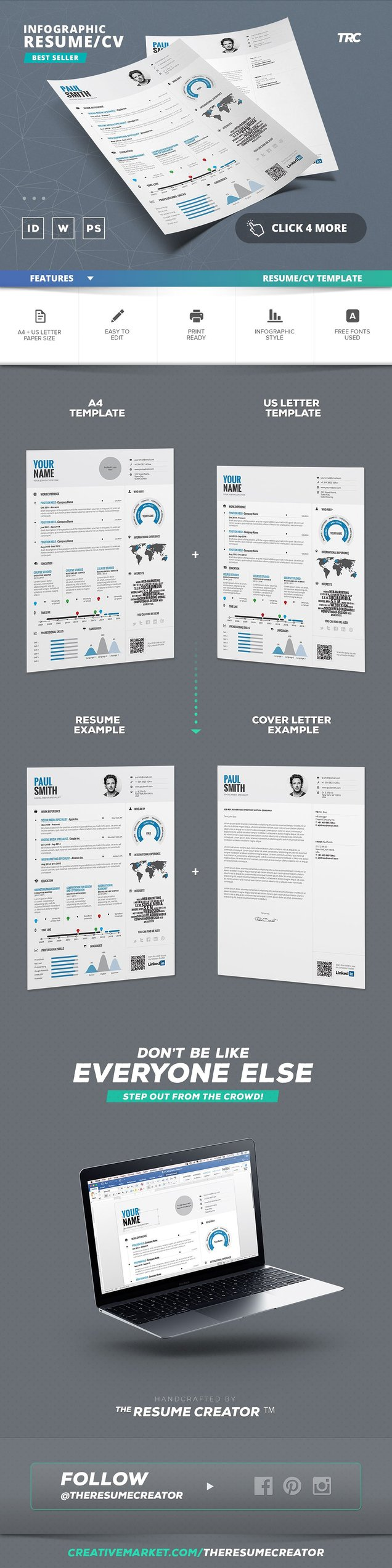 infographic resume vol 1