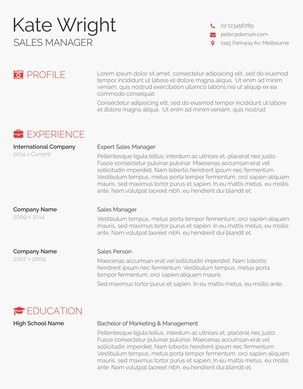 Minimalist Resume Template Word  Resumes Templates