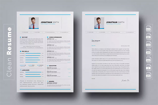 Modern Professional Cv Template  Fancy Resumes