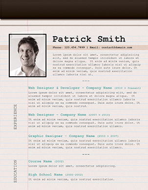 notepad resume design