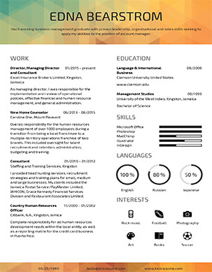 Online Resume Template Builder