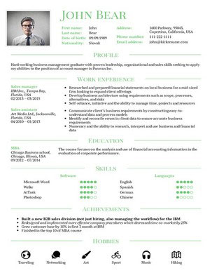 resume builder - Contemporary Resume Templates