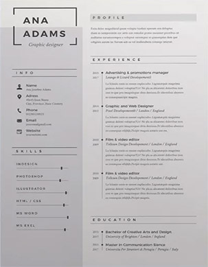 resume template ana