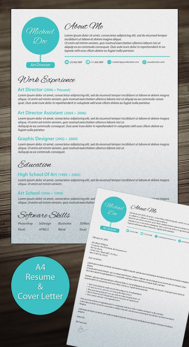 simple CV and cover letter