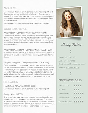 Subtle Resume Design  Fancy Resume