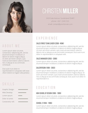 vintage rose resume set