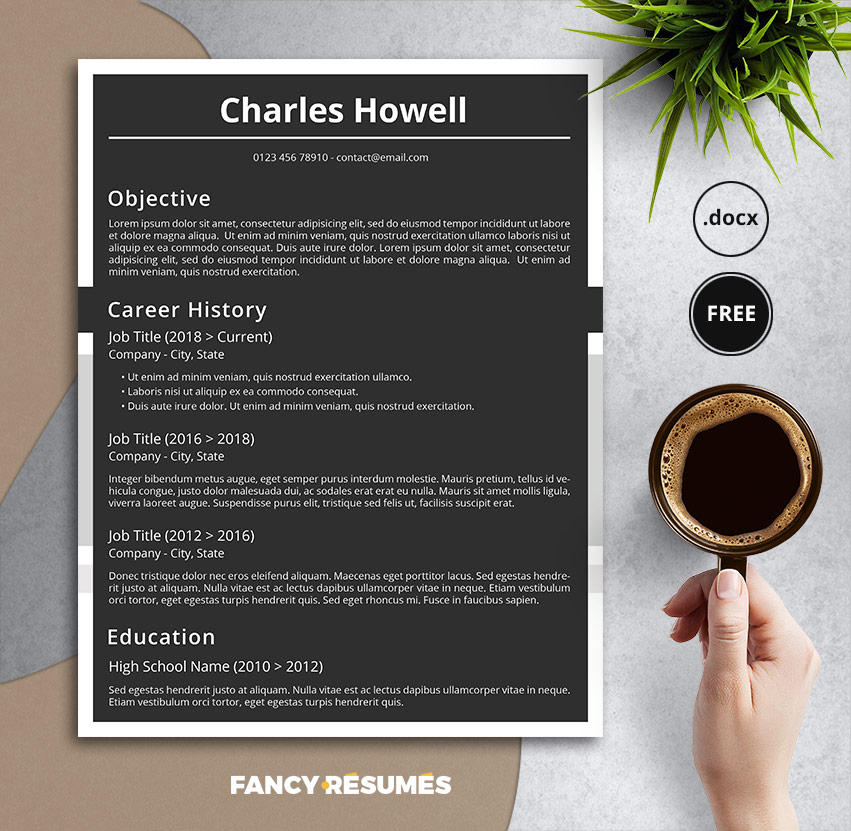 blackboard resume template