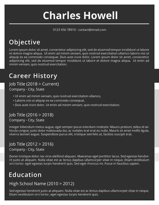 blackboard word resume template