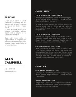 blacke free creative resume