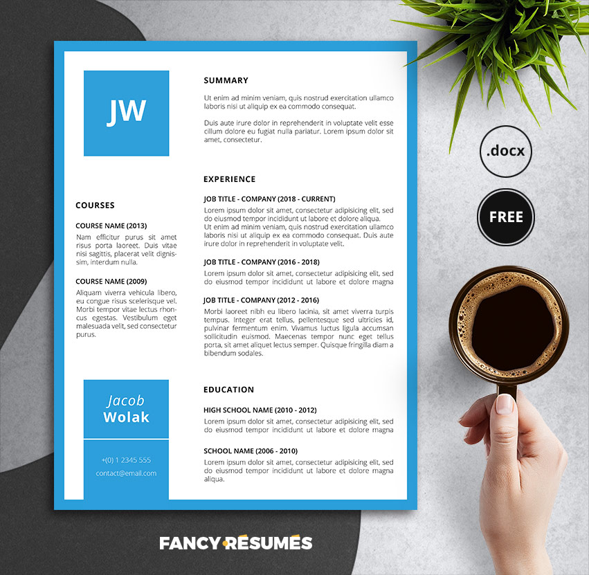 bluette resume template