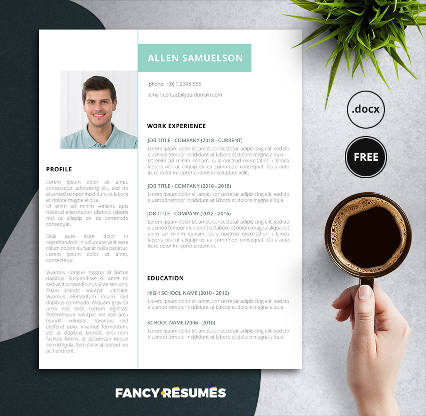 crispy green free resume template