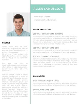 crispy green free resume template