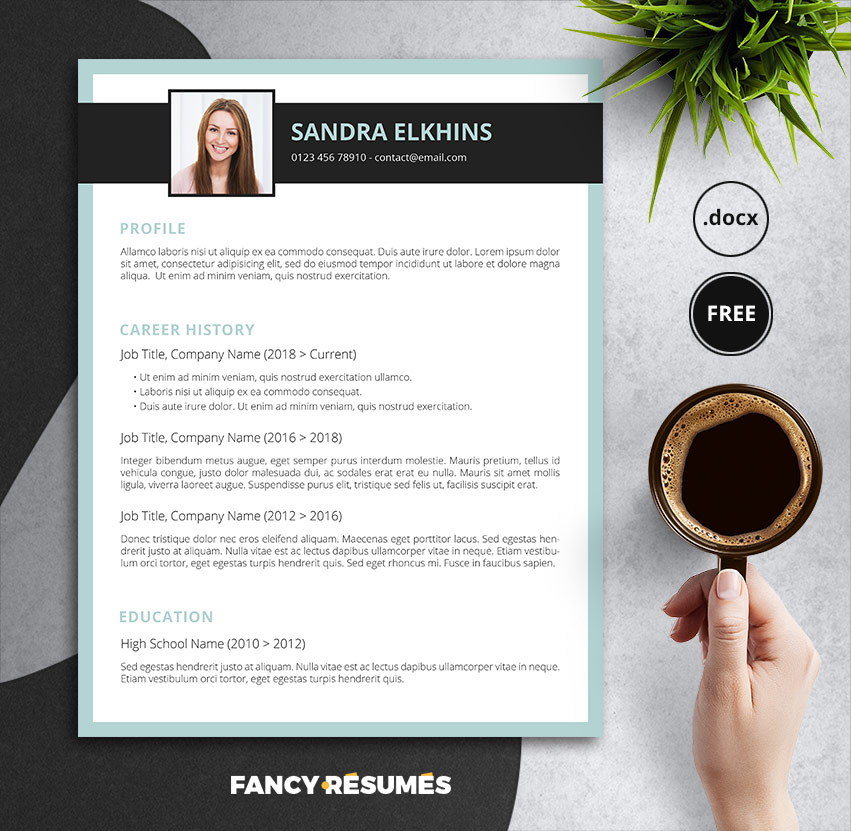 greevine free resume template