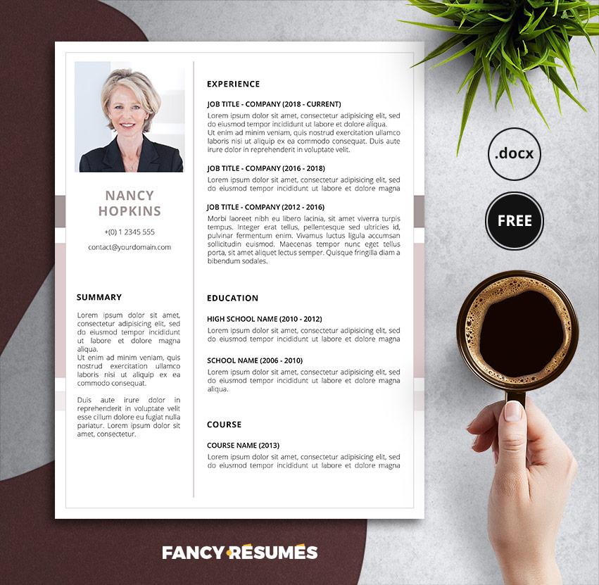 nancy resume template