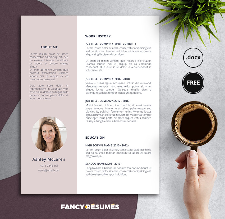 primale free resume template