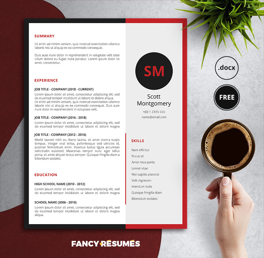 reddence resume template