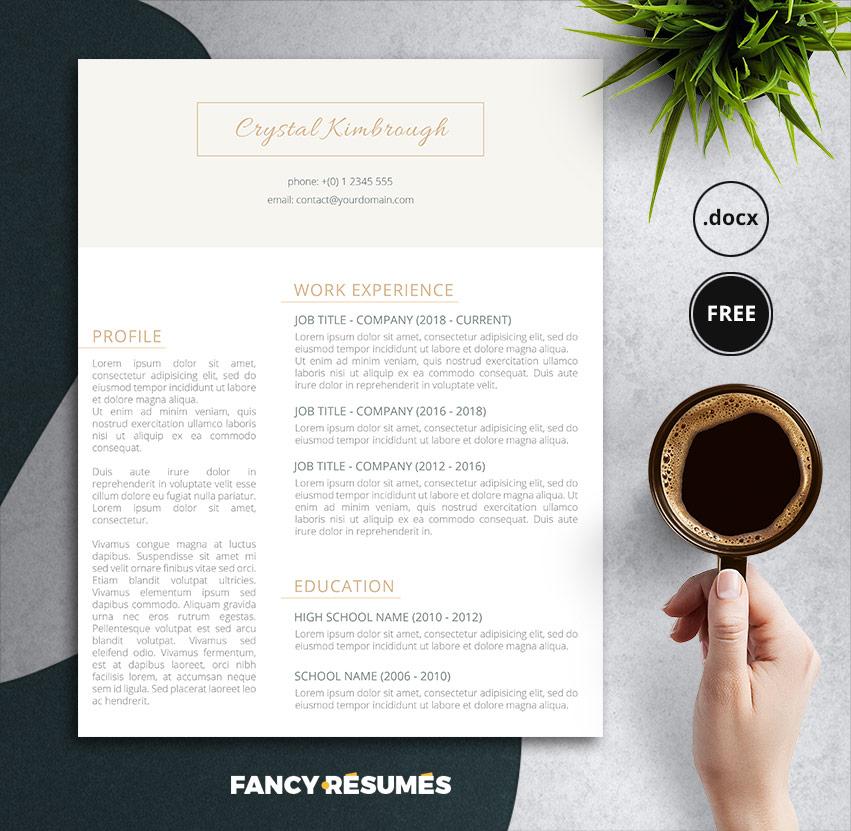 upswanky free resume template