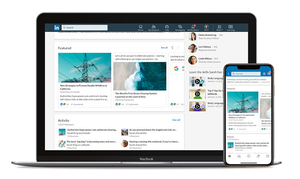 featured work on LinkedIn